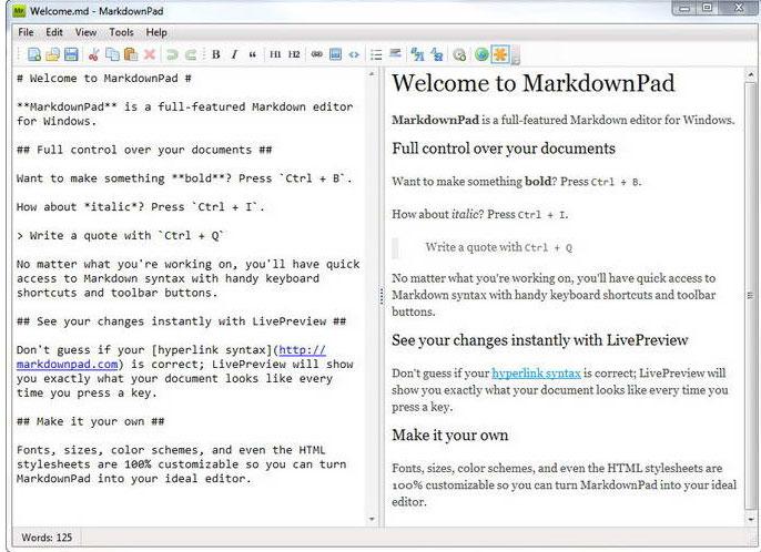MarkdownPad 是一个网络作家的文本到HTML转换工具 ...