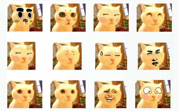 百变猫咪搞怪qq表情图片