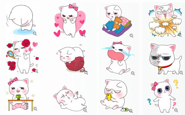 喵小美qq表情:今天这款表情的主角是一只非常可爱的小猫咪,这只