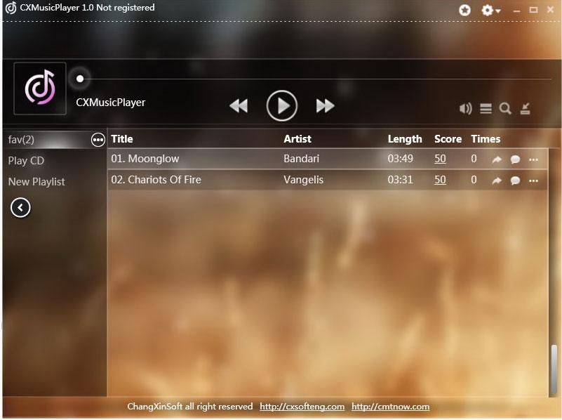 佳乐音乐播放器CXMusicPlayer