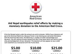 苹果iTunes 推出尼泊尔地震抗捐款页面