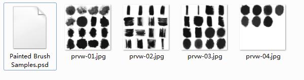 ps氤氲水墨效果毛笔笔刷