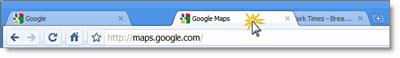 Chrome简约的菜单和标签选项卡