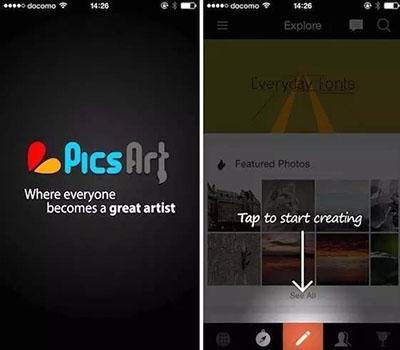 picsart制作全透明手机图片教程