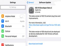 苹果iOS10开发者Beta3更新内容大全