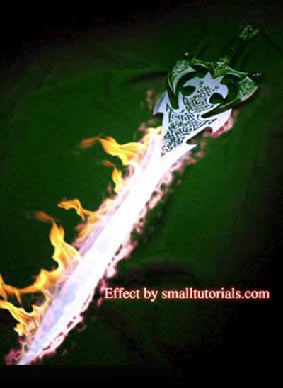 宝剑加上火焰效果