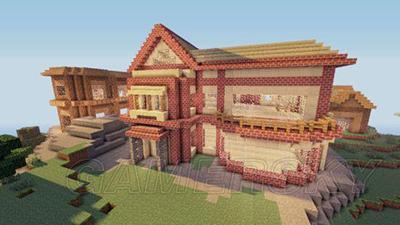 我的世界田园别墅设计图