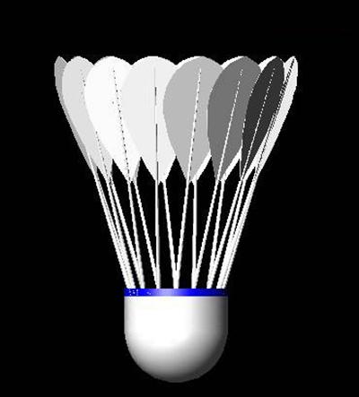CAD2007三维答辩立体:毕业模板羽毛球_其它冲压模具设计绘制制图教程图片