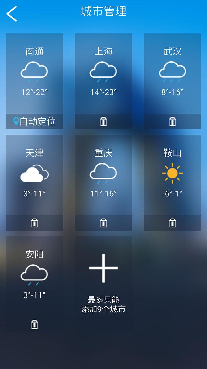 天气预报大师是一款精美、简约的天气预报手机应用,采用中国气象网、墨迹天气等权威机构的数据,覆盖全国所有的城市和地区,为您准确预报每一天的天气情况。天气预报大师拥有24小时天气预报、15天天气预报、PM2.5预报等功能,能够随意添加、删除其他城市和地区的天气预报,大大便利了您的出行安排。