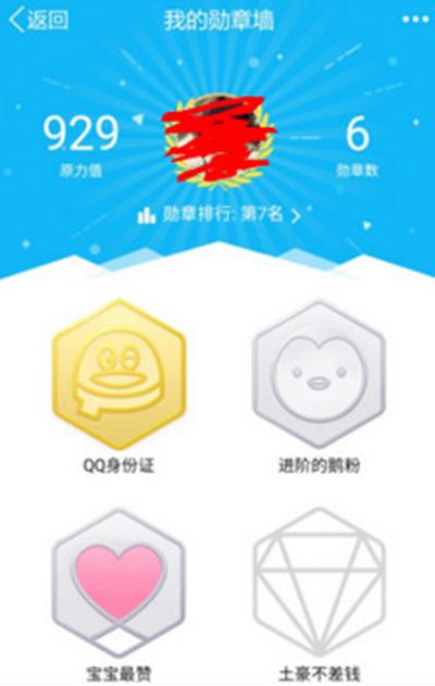 手机QQ勋章