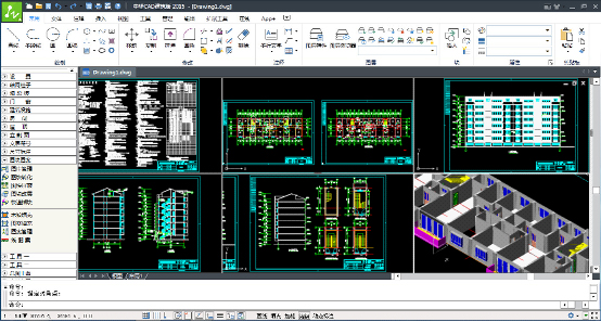"""中望CAD建筑版2015是中望CAD系列软件中专为勘察设计行业定制的,建筑版仅含建筑、水暖电模块。深度兼容各种CAD建筑图纸,独创的内存优化机制,让设计师操作运行更加流畅稳定;集二维工程图、三维表现和建筑信息于一体,更加智能规范。中望CAD建筑版2015为建筑设计师轻松完成全程设计任务提供完整的解决方案。   功能特色:   方便的使用方式:   界面定制   屏幕菜单采用""""折叠式""""两级结构形式,菜单结构清晰、图文并茂,支持鼠标右键及滚轮快捷调用与切换子菜单。   中望CAD建"""
