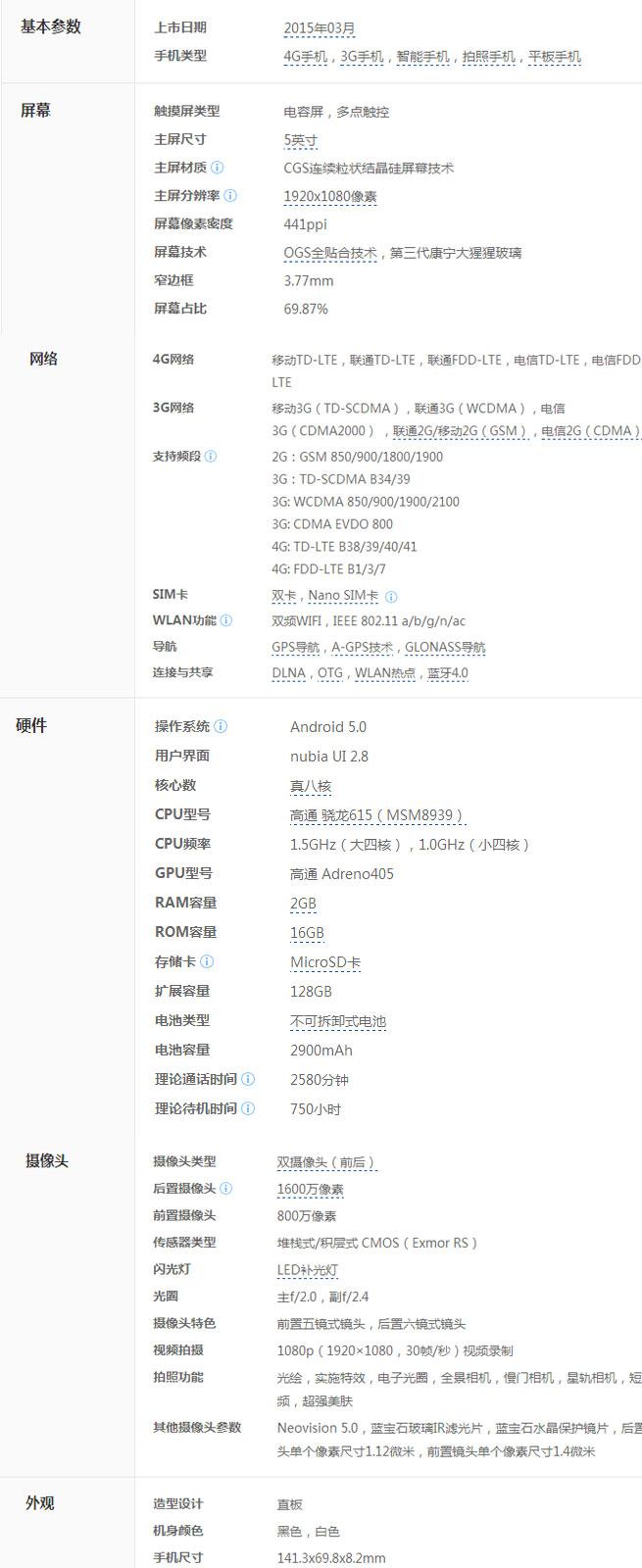 【nubia Z9 mini】价格_努比亚Z9 mini刷机手机参数