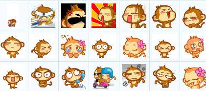 悠嘻猴猴子表情包图片