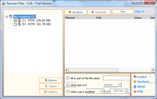 Recover Files(数据恢复软件) V3.2.6 绿色版