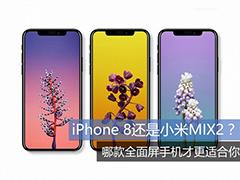 全面屏大比拼 iPhone X和小米MIX 2哪个好?