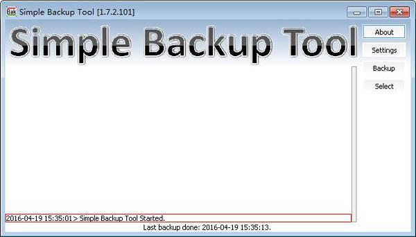 Simple Backup Tool