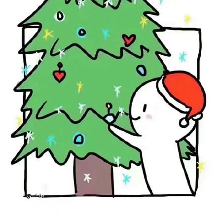 圣诞节情侣头像