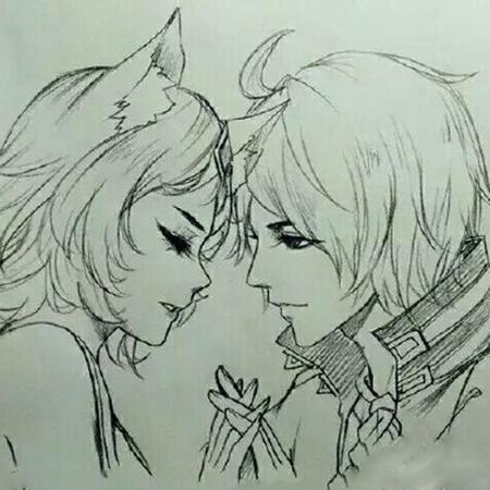 王者荣耀李白和妲己情侣头像