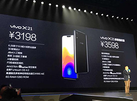 vivoX21和vivoX21屏幕指纹版正式发布:售价3198元起