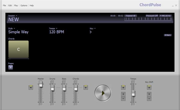 制作音乐伴奏的软件_Chordpulse绿色版2.2_音乐伴奏制作软件下载_MiDi工具_下载之家