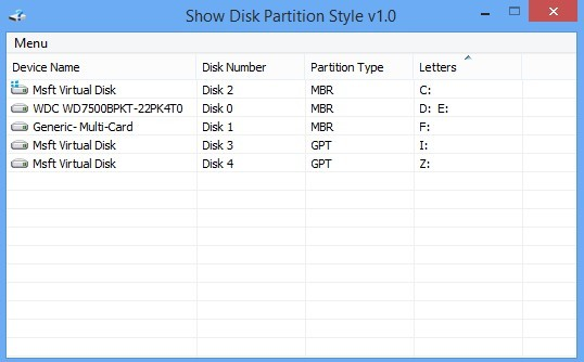 Show Disk Partition Style(磁盘分区样式查看器)