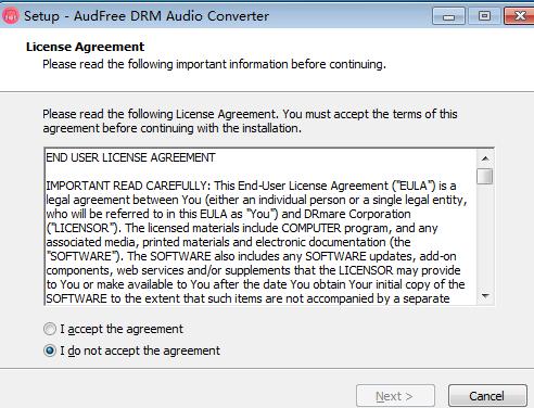 AudFree DRM Audio Converter(音频转换工具)安装向导