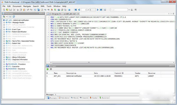 7Edit(hl7文件解析工具)