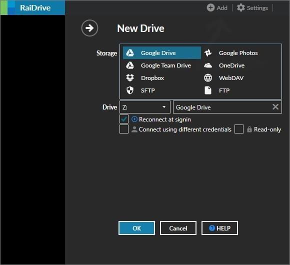 RaiDrive(网盘映射到本地工具)