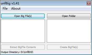 unfBig(big文件拆包打包工具)