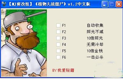 植物大战僵尸年度版修改器 V1.2 中文绿色版