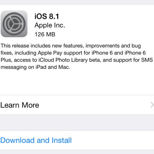 iOS 8.1.1升级补丁发布 支持Apple Pay移动支付