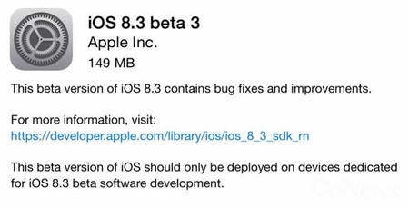 苹果iOS 8.3预览版:Apple Pay中国市场将可用