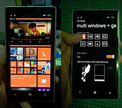 网传的Windows Phone 8.1运行截图