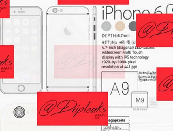 iPhone6s等三款苹果新品细节曝光