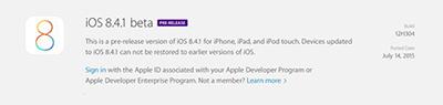 苹果iOS8.4.1和OS X 10.10.5测试版正式发布