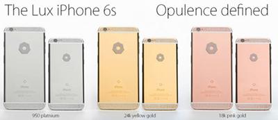 奢华版苹果iPhone6s/6s Plus预订开启