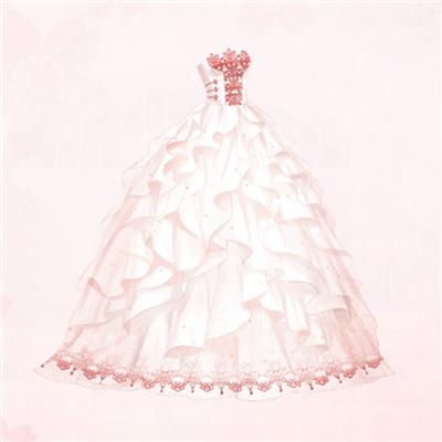 奇迹暖暖喜绣缘中式婚纱套装欣赏